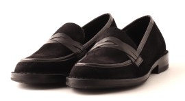 Bubetti loafer - sort velour - NEROVEL